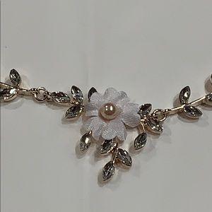 Jewelry - Rose Gold & Rhinestones Necklace & Earrings Set